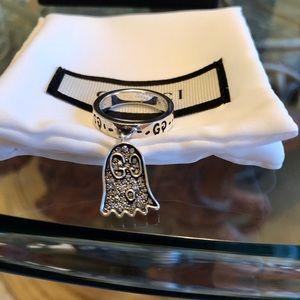 Gucci's GucciGhost Grey Diamond Dangle Charm Ring
